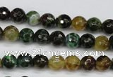 CAG4851 15 inches 6mm faceted round dragon veins agate beads