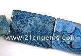 CAG491 15 inches 20*30mm rectangle cyan crazy lace agate beads wholesale