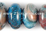 CAG505 15 inches 5*8mm rondelle cyan crazy lace agate beads wholesale