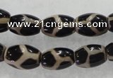 CAG5087 15.5 inches 8*12mm drum tibetan agate beads wholesale