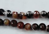 CAG5111 15.5 inches 6mm faceted round line agate beads wholesale