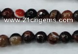 CAG5112 15.5 inches 8mm faceted round line agate beads wholesale