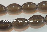 CAG5257 15.5 inches 12*18mm rice Brazilian grey agate beads