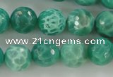 CAG5310 15.5 inches 6mm faceted round peafowl agate gemstone beads