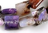 CAG536 15 inches 13*13mm square purple crazy lace agate beads wholesale