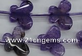 CAG5379 15.5 inches 16*20mm carved butterfly dragon veins agate beads