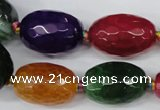 CAG5409 10*14mm � 20*30mm faceted drum dragon veins agate beads