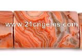 CAG546 15 inches 12*20mm rectangle mahogany crazy lace agate beads