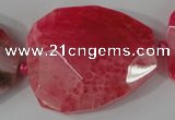 CAG5488 15.5 inches 30*35mm – 35*40mm faceted freeform agate beads