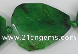 CAG5489 15.5 inches 30*35mm – 35*40mm faceted freeform agate beads