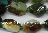 CAG5505 15.5 inches 15*20mm – 20*25mm faceted nuggets agate beads