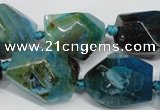 CAG5506 15.5 inches 15*20mm – 20*25mm faceted nuggets agate beads