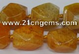 CAG5509 15.5 inches 16*17*22mm faceted nuggets agate beads