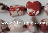 CAG5520 15.5 inches 16*18mm nuggets agate gemstone beads