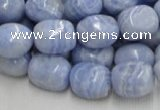 CAG556 16 inches 13*18mm freeform blue agate beads wholesale