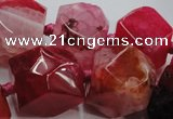 CAG5592 15 inches 12*14mm - 24*25mm faceted nuggets agate beads