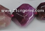 CAG5606 15 inches 25*28mm faceted nuggets agate gemstone beads