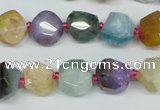 CAG5618 15 inches 10*12mm faceted nuggets agate gemstone beads