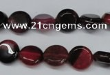 CAG5628 15 inches 12mm flat round dragon veins agate beads