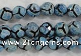 CAG6162 15 inches 12mm faceted round tibetan agate gemstone beads