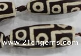 CAG6217 15 inches 15*40mm rice tibetan agate gemstone beads