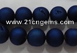 CAG6243 15 inches 10mm round plated druzy agate beads wholesale