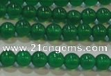 CAG6603 15.5 inches 4mm round green agate gemstone beads