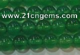 CAG6604 15.5 inches 6mm round green agate gemstone beads