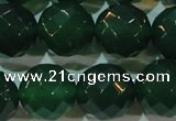 CAG6617 15.5 inches 16mm faceted round green agate gemstone beads