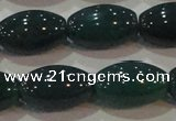 CAG6624 15.5 inches 11*17mm rice green agate gemstone beads