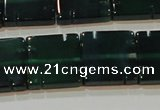 CAG6638 15.5 inches 14*14mm square green agate gemstone beads