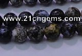 CAG6650 15.5 inches 4mm round blue ocean agate gemstone beads