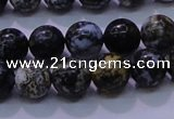 CAG6651 15.5 inches 6mm round blue ocean agate gemstone beads