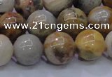 CAG6674 15.5 inches 12mm round natrual crazy lace agate beads