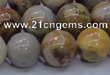 CAG6678 15.5 inches 20mm round natrual crazy lace agate beads