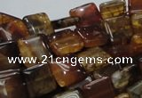 CAG693 15.5 inches 12*12mm square dragon veins agate beads