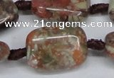 CAG7033 15.5 inches 20*30mm rectangle ocean agate gemstone beads