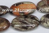 CAG7041 15.5 inches 20*30mm oval ocean agate gemstone beads