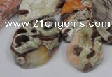CAG7051 Top drilled 15*20mm - 25*35mm freeform ocean agate beads