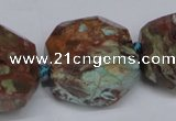 CAG7065 15.5 inches 16*25mm faceted nuggets ocean agate beads