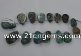 CAG7069 Top drilled 20*30mm - 30*45mm freeform ocean agate beads