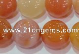 CAG7138 15.5 inches 20mm round red agate gemstone beads