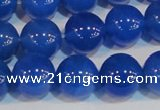 CAG7162 15.5 inches 12mm round blue agate gemstone beads