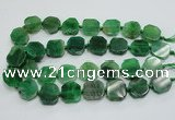 CAG7360 15.5 inches 18*20mm - 20*22mm octagonal dragon veins agate beads