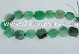 CAG7393 15.5 inches 22*25mm freeform dragon veins agate beads