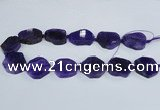 CAG7399 15.5 inches 25*25mm - 30*35mm freeform dragon veins agate beads