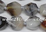 CAG7430 15.5 inches 13*15mm - 15*18mm faceted nuggets Montana agate beads