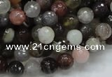 CAG744 15.5 inches 8mm faceted round botswana agate beads wholesale