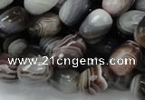 CAG747 15.5 inches 10*14mm faceted egg-shaped botswana agate beads