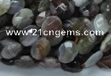 CAG754 15.5 inches 8*10mm faceted oval botswana agate beads